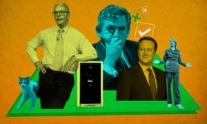 Larry the cat, John Major, Gordon Brown, David Cameron and Theresa May.