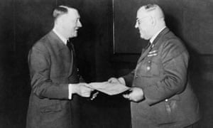 Adolf Hitler and his private doctor Theodor Morell in February 1944.