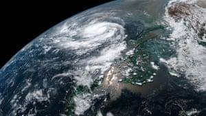 Bay of Bengal, India: Tropical Cyclone Fani intensifying in the Bay of Bengal