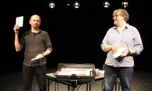 An open acknowledgement of privilege … Amund Sjølie Sveen and Andy Smith in Commonism at Birmingham Rep.