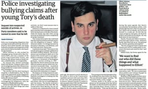Guardian story from 23 September after the death of Elliott Johnson