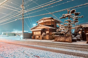 Stills - Takayama, Gifu. 2018. Takayama, Gifu. 2018 was taken in the popular tourist city of Takayama in the mountainous Hida region of Gifu Prefecture central Japan. I was walking the empty streets late at night looking for photographs, inspired by the work of Robert Adams and Rut Blees Luxemburg when I came across this traditional Japanese home illuminated by streetlamp and neon from the surrounding video arcades, noodle restaurants and late night markets.
