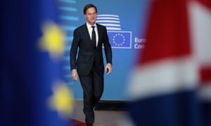 The Netherlands' PM Mark Rutte said he had 'the highest respect' for Theresa May.