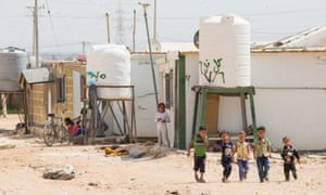 Za'atari camp, which opened in July 2012, is now home to 80,000 Syrian refugees