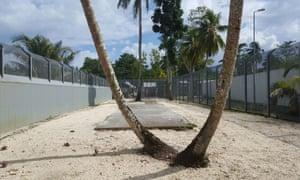 Security fences inside the Manus Island detention centre