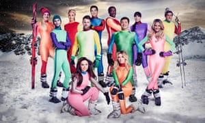 The contestants on The Jump – take your bets as to who will break a limb first.