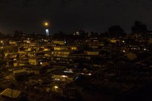 Kibera at night, September 2018.