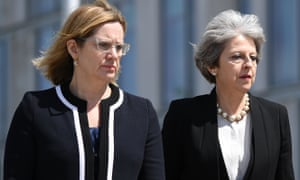 The home secretary, Amber Rudd, and the prime minister, Theresa May.