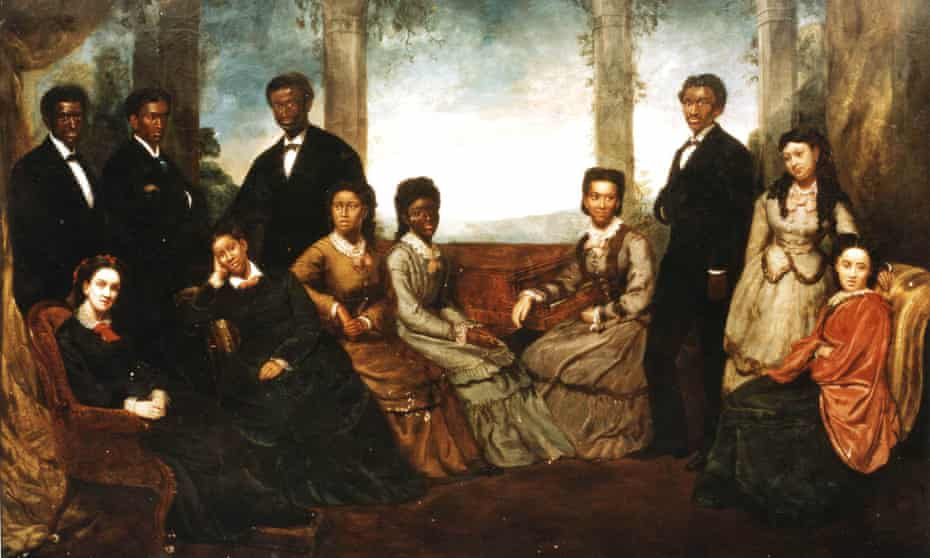 Jubilee Singers at the Court of Queen Victoria by Edmund Havell.