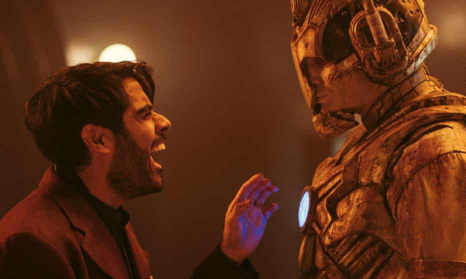 Up to no good … Sacha Dhawan as The Master in Ascension of the Cyberman.