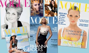 A collection of Vogue covers.