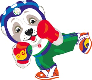 Wepaly, the alabai mascot of the Asian Indoor and Martial Arts Games