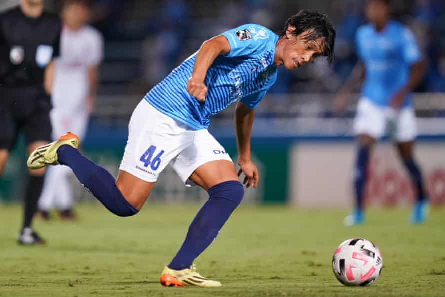 Shunsuke Nakamura in action for Yokohama. 'I do my best to take care of my physical condition,' he says.