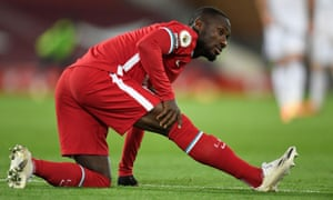 Naby Keïta's hamstring injury could further stretch Liverpool's resources.