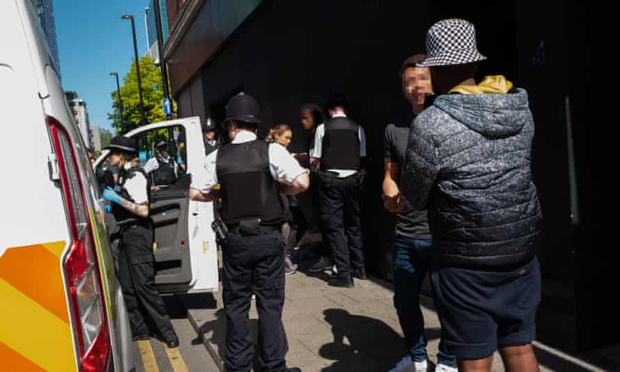 The Met's violence suppression unit detain youths