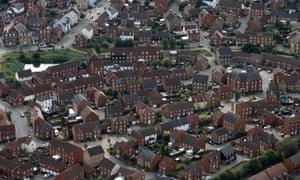 Aerial view of houses in Ashford, Kent