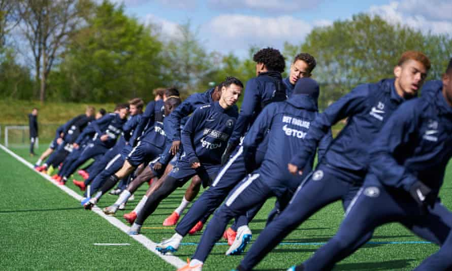 The FC Midtjylland players are put through their paces in training