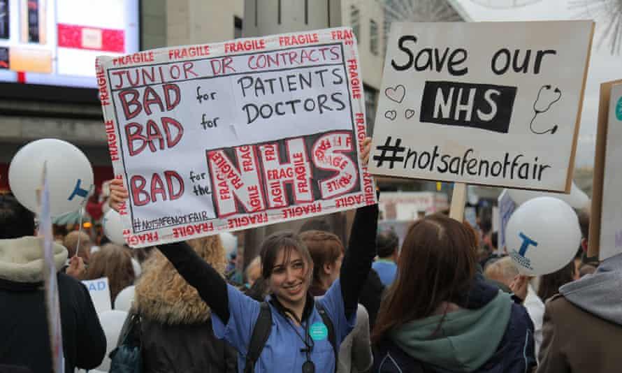Junior doctors protest in Birmingham.