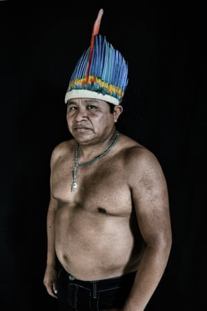 Edinho de Souza, 38, is a Macuxi indigenous man and vice-coordinator of the Indigenous Council of Roraima (CIR), the indigenous organisation that represents a majority of the communities on the Raposa Serra do Sol reserve