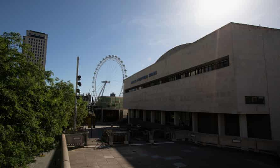 The Royal Festival Hall in London during lockdown in May.