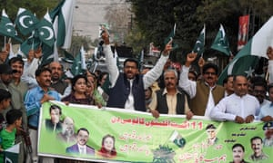 Pakistani Christians at a rally
