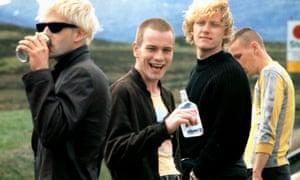 Jonny Lee Miller, Ewan McGregor, Kevin McKidd and Ewen Bremner in Trainspotting.