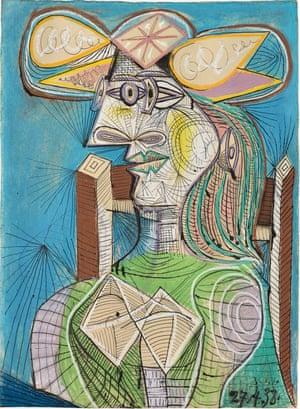 Pablo Picasso, Seated Woman (Dora), 1938