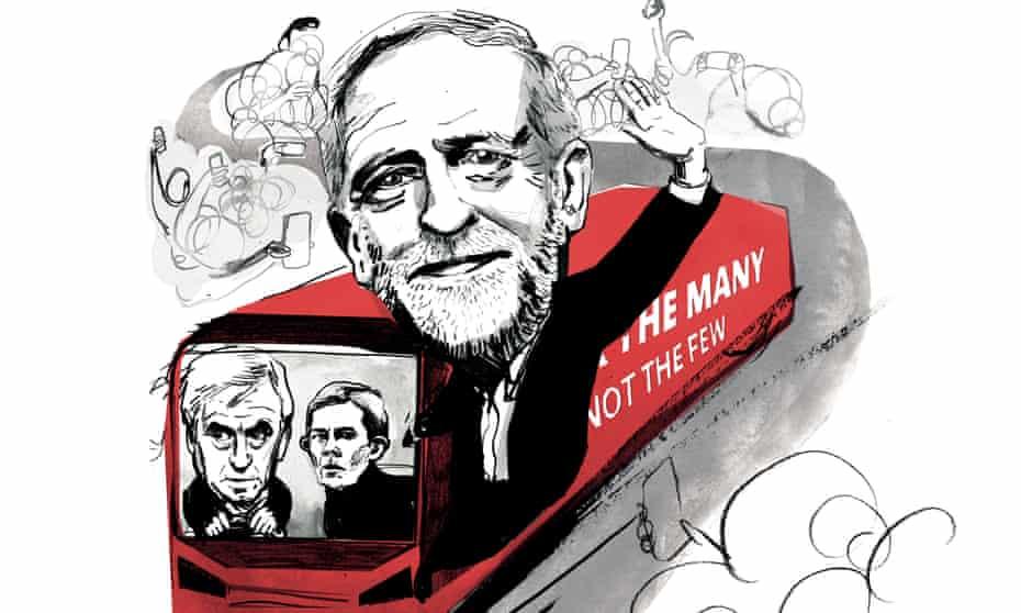 Corbyn labour election long read illustration by Ellie Foreman Peck
