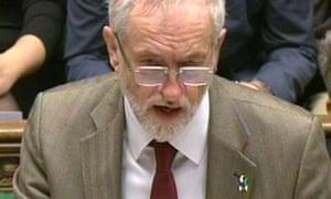 Jeremy Corbyn speaks in the Commons