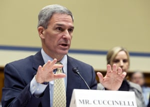 Ken Cuccinelli testifies during a House Oversight subcommittee hearing in October last year