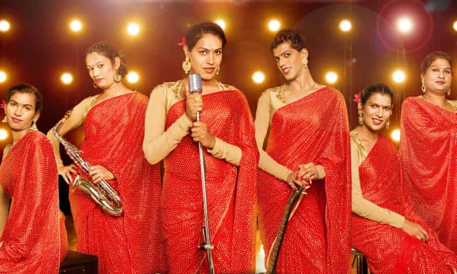 'Call us names if you want but we are proud' … Jagtap (far left) in 6 Pack Band.