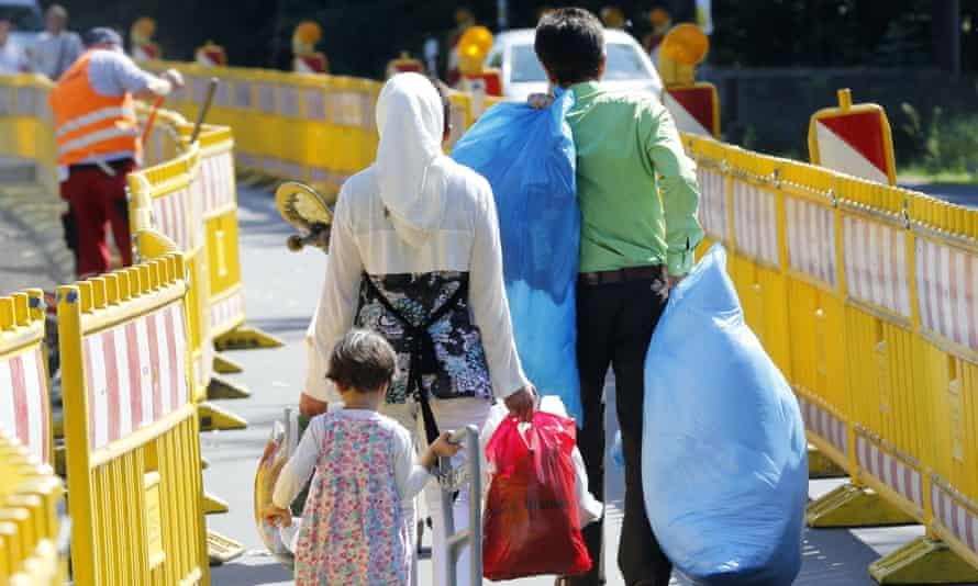 A family seeking asylum in Giessen, Germany.