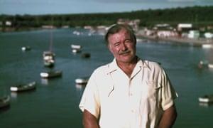 Ernest Hemingway in Cuba in 1952.