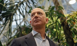 Jeff Bezos, the world's richest man and head of Amazon. Trump is said to be contemplating going after Amazon with competition law.
