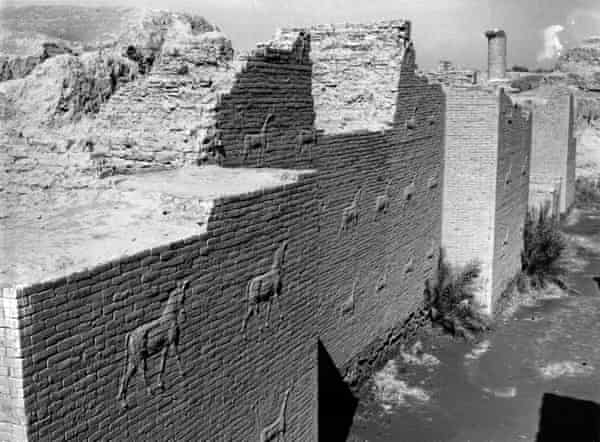 Wall carvings in the ruins of Babylon.