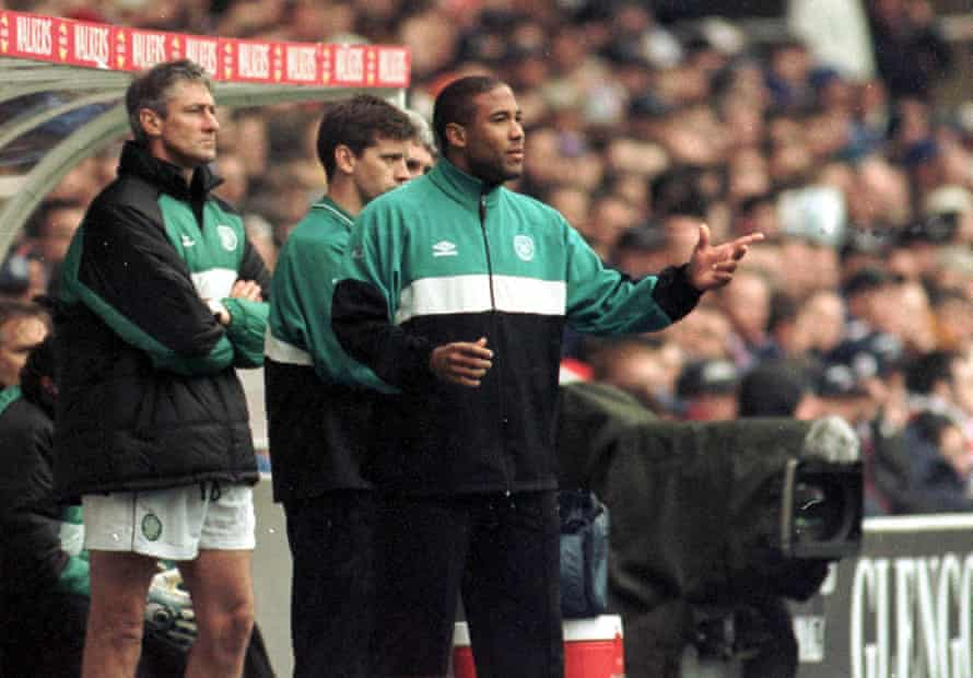 John Barnes during his tenure in charge at Celtic