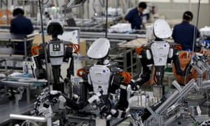 Robots on an assembly line in Tokyo