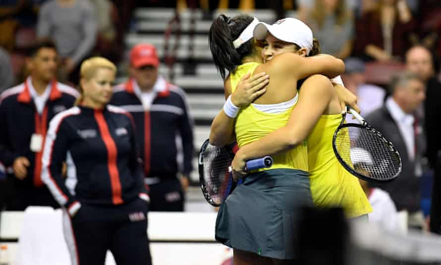 Doubles partners Priscilla Hon and Ashleigh Barty