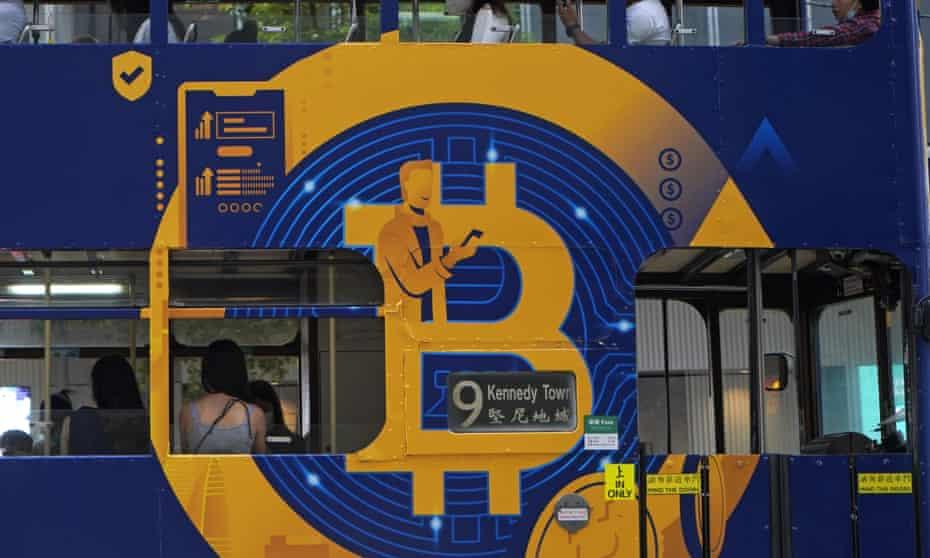 Bitcoin ad on a Hong Kong bus