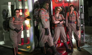 Scaring away audiences ... the cast of Paul Feig's rebooted Ghostbusters.