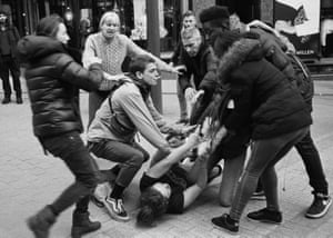 Life as it happens … O'Connell's shot of a street fight