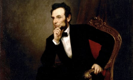 Official portrait of Abraham Lincoln, who created the National Academy of Sciences, 375 of whose members have effectively called out the Republican Party's refusal to take climate change threats seriously.