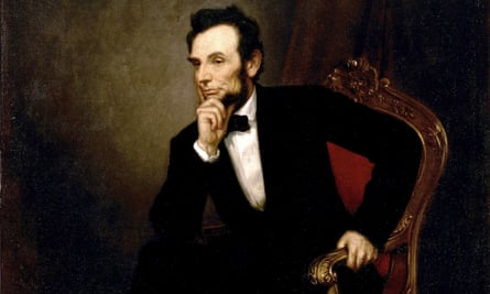 George PA Healy's 1869 painting of Abraham Lincoln, the subject of George Saunders's 'wildly imaginative' Lincoln in the Bardo