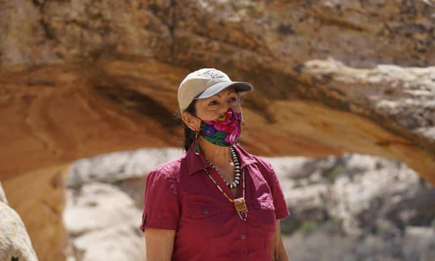 Deb Haaland during a visit to Bear Ears national monument in April.