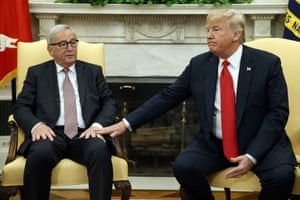 Donald Trump, Jean-Claude JunckerPresident Donald Trump meets with European Commission president Jean-Claude Juncker in the Oval Office of the White House, Wednesday, July 25, 2018, in Washington. (AP Photo/Evan Vucci)
