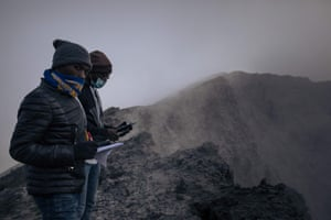 The scientists are eager to dispel social media rumours that Nyiragongo is now dormant