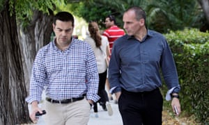 Alexis Tsipras (left) and Yanis Varoufakis together in June 2015