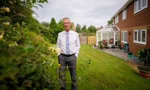 Neal Balcombe in his garden in Bridgwater.