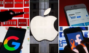 The US technology giants collectively known as Faangs – Facebook, Amazon, Apple, Netflix and Google.