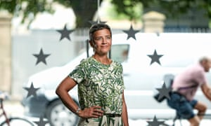 Margrethe Vestager at her office in Copenhagen.